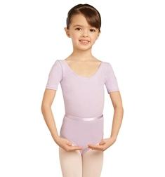 Балетный купальник с коротким рукавом
