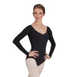 Танцевальный  купальник с длинным рукавом