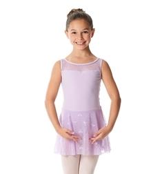 Детский танцевальный купальник с юбочкой Rosalie