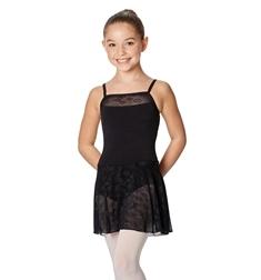 Детский танцевальный купальник с юбкой Erin