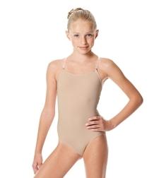 Детский купальник для танцев телесного цвета