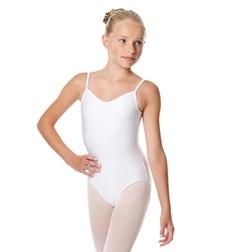 Детский балетный купальник на тонких бретелях