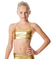 Блестящий танцевальный топ для девочки