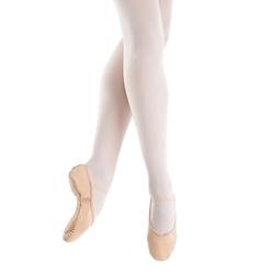 Кожаные балетки на цельной подошве