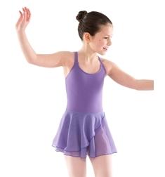 Боди для танцев с юбкой