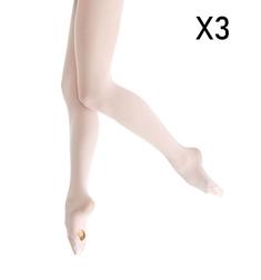 Детские балетные колготки с отверстием 3 пары