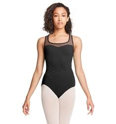 Танцевальный купальник с сеточкой на спине