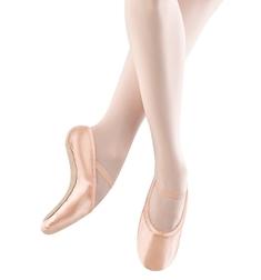Детские эластичные розовые балетки