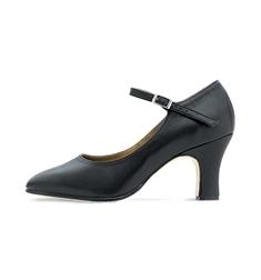 Туфли из цельной кожи