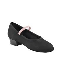 Народные холщовые туфли на низком каблуке