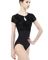 Женский балетный купальник с короткими рукавами