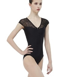 Балетный купальник с коротким рукавом GRENAT