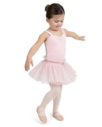 Детский балетный купальник с юбкой-пачкой