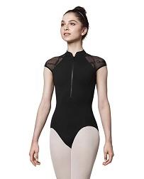 Женский балетный купальник с коротким рукавом