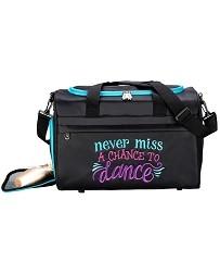 Черная спортивная сумка для танцев