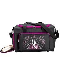 Черная спортивная сумка со стразами