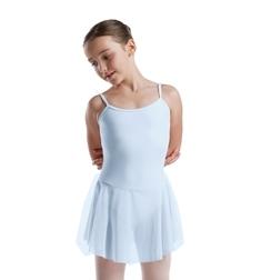 Балетный купальник с  юбкой из тонкой ткани